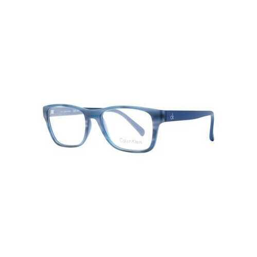 Calvin Klein CK-5957-412 Marble Blue Rectangular Plastic Unisex Eyeglasses