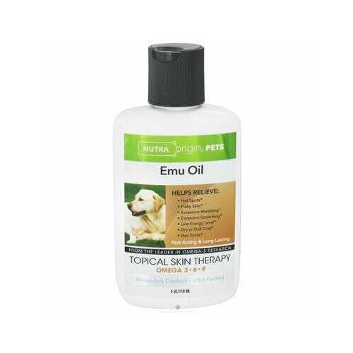 NutraOrigin Omega 3 Ultra Purified Emu Oil Pets Dogs Cats Topical Skin Therapy