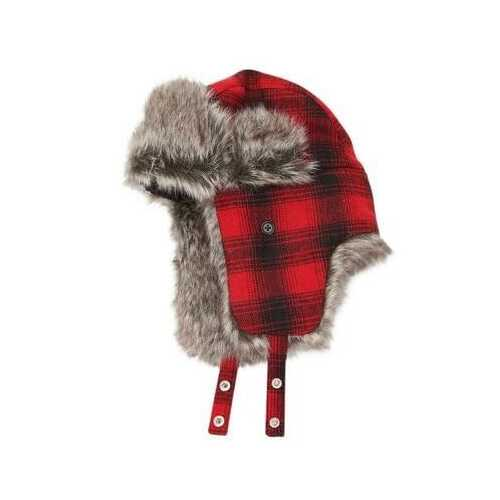 Urban Outfitters Wool & Faux Fur Buffalo Plaid Winter Trapper Aviator Hat