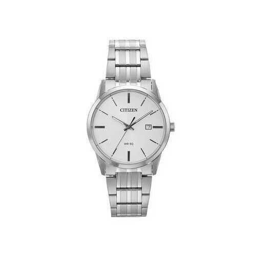 Citizen BI5000-52A Silver Tone Stainless Steel White Dial Men's Watch
