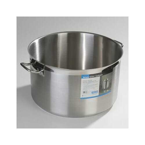 Carlisle Versata Select Commercial Grade 18-10 Heavy Duty 60 qt Stainless Steel Kitchen Stock Pot