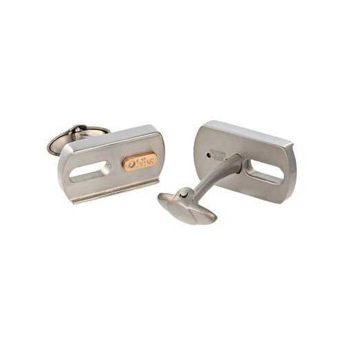 "Bliss by Damiani ""Gold Tytanium"" Titanium with 18k Rose Gold Cufflinks"