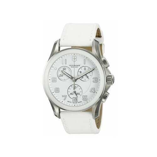 Victorinox Swiss Army 241500 White Leather Women's Chronograph Watch