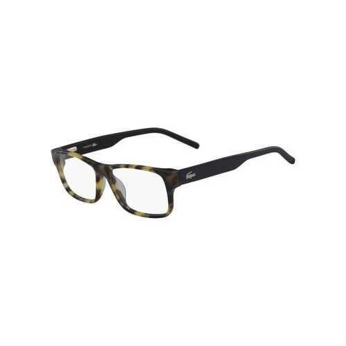 Lacoste L2660-218 Yellow Havana Square Unisex Acetate Eyeglasses