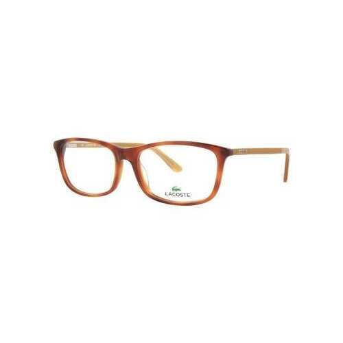 Lacoste L2711-218 Light Havana Square Unisex Acetate Eyeglasses