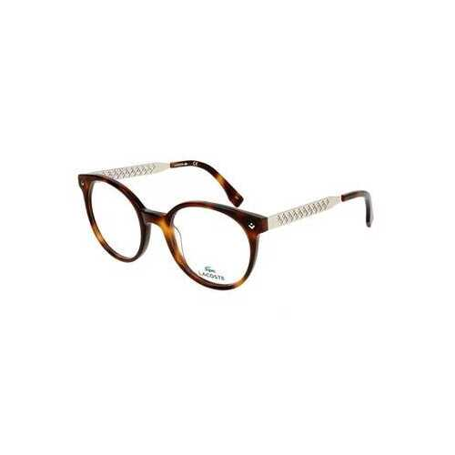 Lacoste L2806-214 Havana Round Women's Acetate Eyeglasses