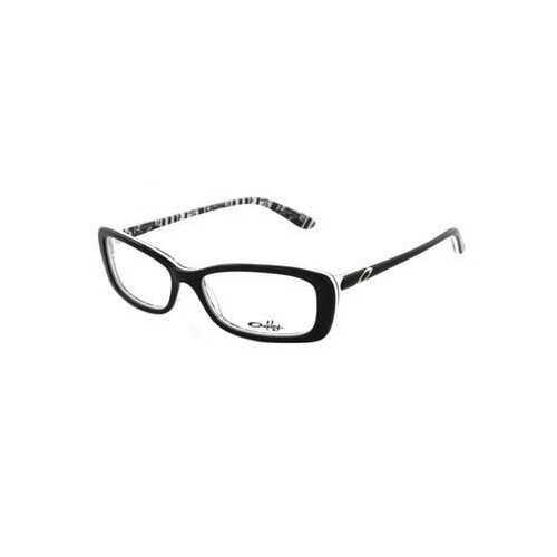 Oakley OX1071-0653 Cross Court Black Letterpress Rectangular Women's Eyeglasses