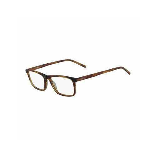 Calvin Klein CK-6009-203 Striped Brown Rectangular Unisex Plastic Eyeglasses
