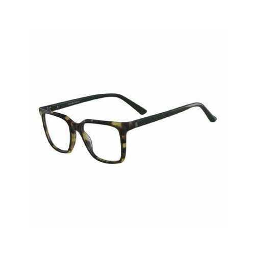 Calvin Klein CK-8579-244 Brown Horn Tortoise Square Men's Plastic Eyeglasses