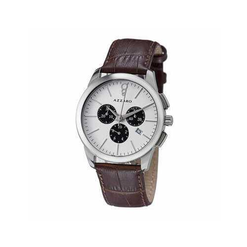 Azzaro AZ2040.13AH.000 Legend Brown Leather White Dial Men's Chronograph Watch