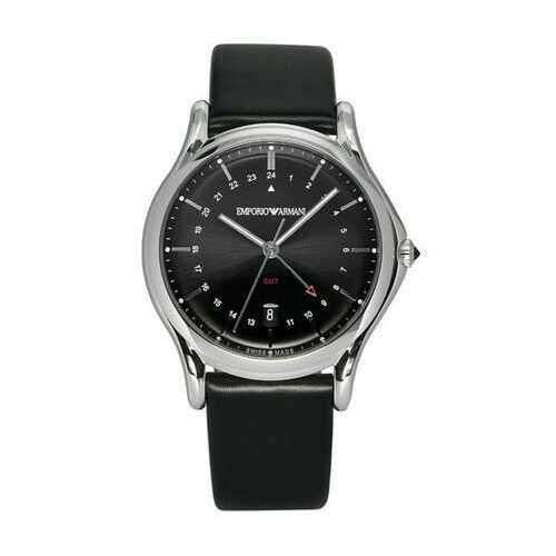 Emporio Armani ARS1100 Classic GMT Black Swiss Quartz Men's Watch