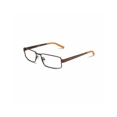 Converse Q006 Brown Rectangular Unisex Metal Eyeglasses
