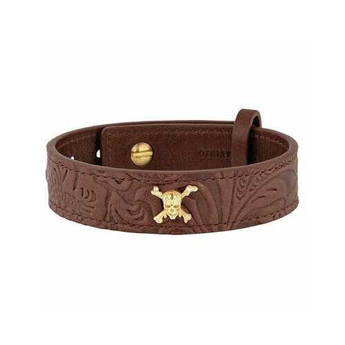S.T. Dupont Pirates of the Caribbean Brown Leather Bracelet 003201PC