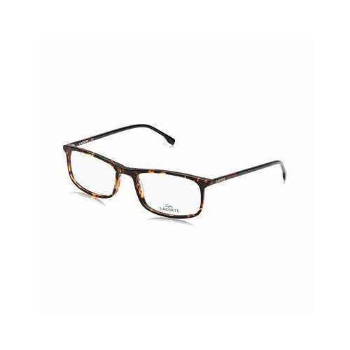 Lacoste L2808-220 Red Havana Rectangular Men's Acetate Eyeglasses