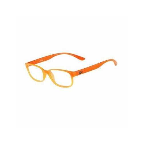 Lacoste L3802-800 Orange Square Unisex Plastic Eyeglasses