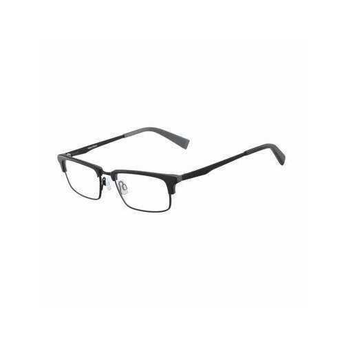 Nautica N8123-005 Matte Black Rectangular Men's Acetate Eyeglasses