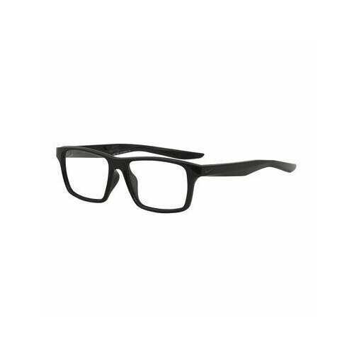 Nike 7112-010 Black Square Unisex Plastic Eyeglasses