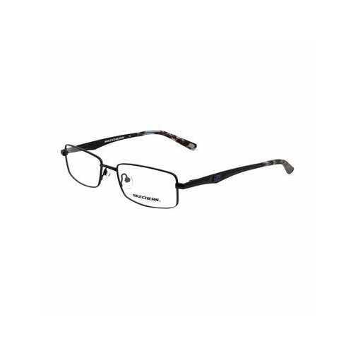 Skechers SE3125-L19 Matte Black Rectangular Men's Metal Eyeglasses