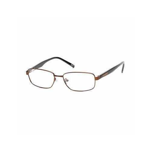 Skechers SE3173-049 Matte Dark Brown Rectangular Metal Men's Eyeglasses