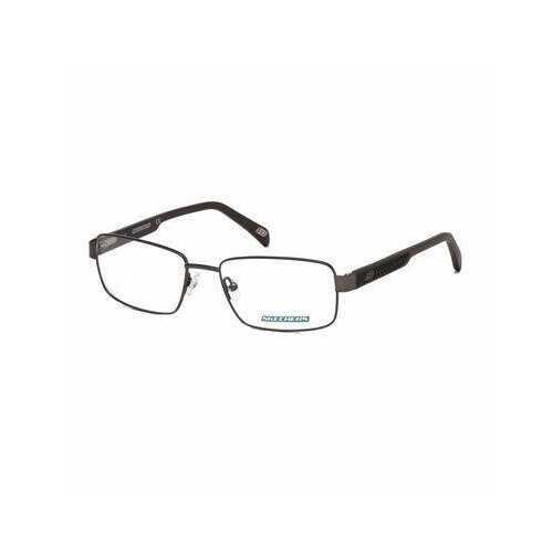 Skechers SE3200-020 Grey Rectangular Men's Metal Eyeglasses