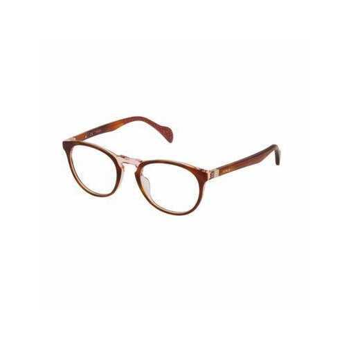 Tous VTOA22-07LA Havana Opal Pink Oval Women's Acetate Eyeglasses