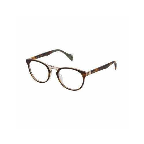 Tous VTOA22-09W2 Havana Crystal Oval Women's Acetate Eyeglasses