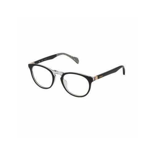 Tous VTOA22-0888 Black Crystal Oval Women's Acetate Eyeglasses