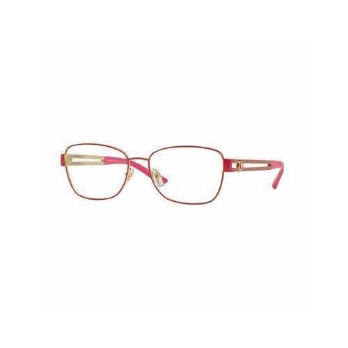 Versace VE1234-1370 Pale Gold Fuschia Square Women's Metal Eyeglasses
