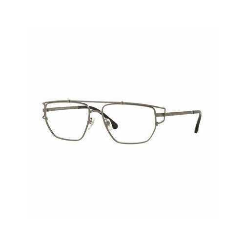 Versace VE1257-1351 Matte Gunmetal Square Men's Metal Eyeglasses