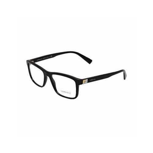 Versace VE3253-GB1 Black Rectangular Men's Plastic Eyeglasses