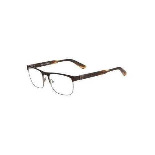 Calvin Klein CK-8009-223 Brown Square Men's Metal Eyeglasses