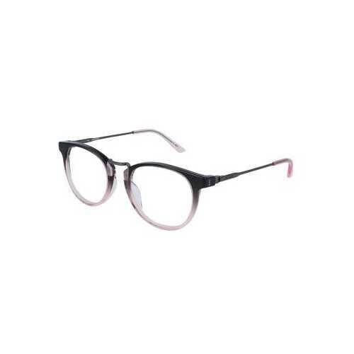 Calvin Klein CK-18721-677 Crystal Smoke Pink Gradient Round Acetate Eyeglasses