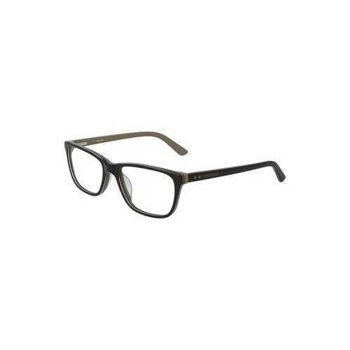 Calvin Klein CK-19510-203 Dark Brown Beige Square Men's Acetate Eyeglasses