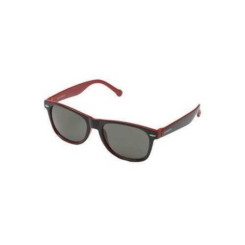 Converse SCO081Q Black Red Square Black Lens Men's Acetate Sunglasses