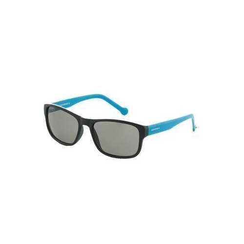 Converse SCO092Q Black Blue Square Black Lens Men's Sunglasses