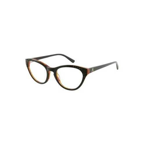 Guess GM-133-BLKAM Marciano Black Demi Amb Cat-Eye Women's Acetate Eyeglasses