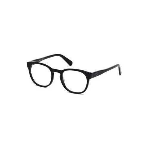 Guess GU-1907-001 Shiny Black Round Men's Acetate Eyeglasses