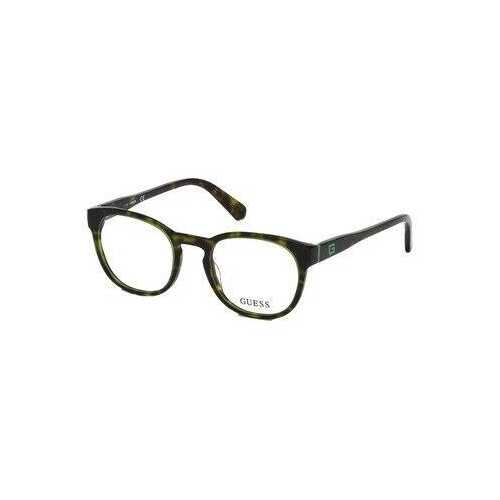 Guess GU-1907-098 Dark Green Round Men's Acetate Eyeglasses