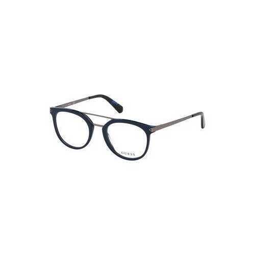 Guess GU-1964-092 Blue Round Men's Acetate Eyeglasses
