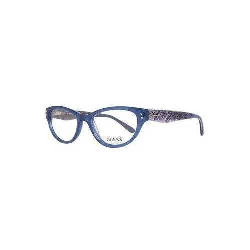 Guess GU-2334-BL Dark Blue Cat-Eye Women's Acetate Eyeglasses
