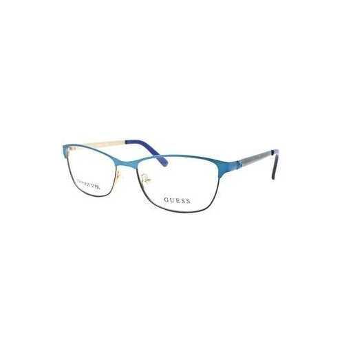 Guess GU-2512-091 Matte Blue Square Women's Metal Eyeglasses