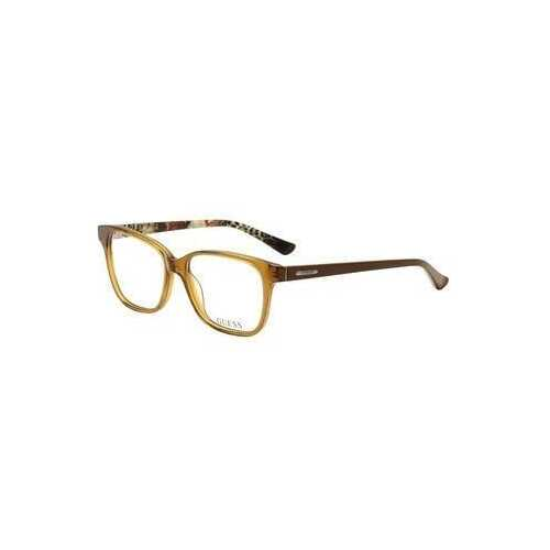 Guess GU-2506-047 Light Brown Square Women's Acetate Eyeglasses