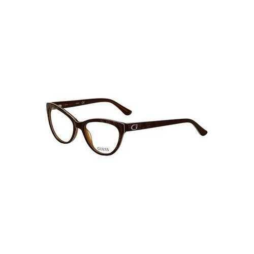 Guess GU-2554-050 Dark Brown Cat-Eye Women's Acetate Eyeglasses