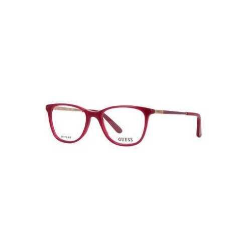 Guess GU-2566-075 Shiny Fuchsia Square Women's Acetate Eyeglasses