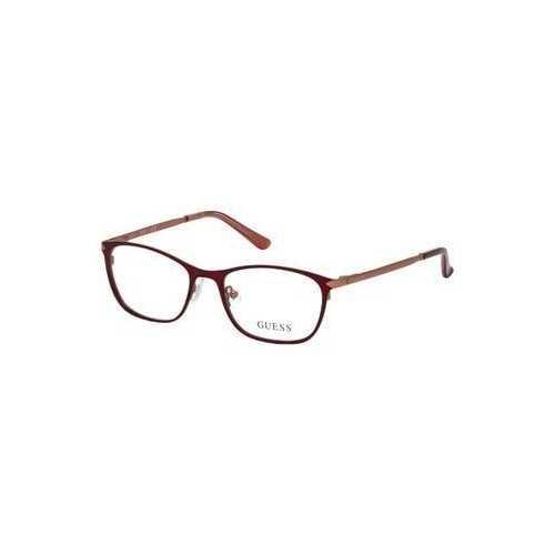 Guess GU-2587-067 Matte Red Rectangular Women's Metal Eyeglasses