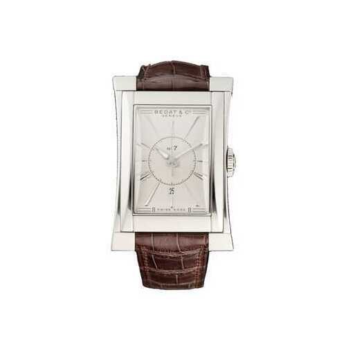 Bedat & Co. 737.010.610 No.7 Silver Dial Men's Brown Leather Automatic Watch