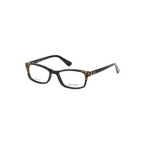 Guess GU-2616-050 Dark Brown Rectangular Women's Acetate Eyeglasses