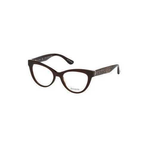 Guess GU-2623-050 Dark Brown Cat-Eye Women's Acetate Eyeglasses