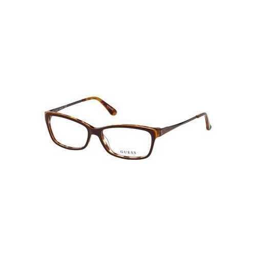 Guess GU-2635-050 Dark Brown Rectangular Women's Acetate Eyeglasses