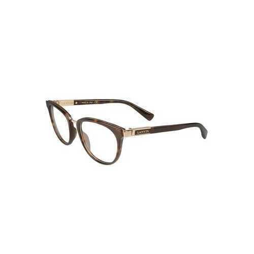 Lanvin VLN 079-0722 Tortoise Square Unisex Acetate Eyeglasses